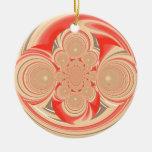 Diseño anaranjado del remolino adorno