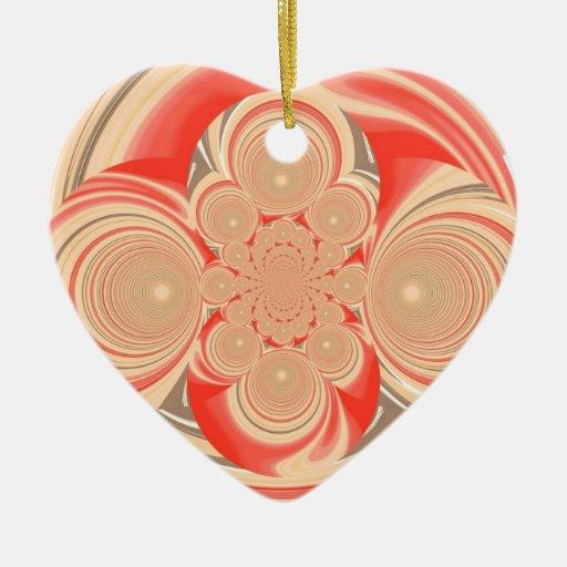 Diseño anaranjado del remolino adornos de navidad