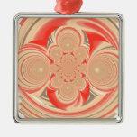 Diseño anaranjado del remolino ornamentos para reyes magos