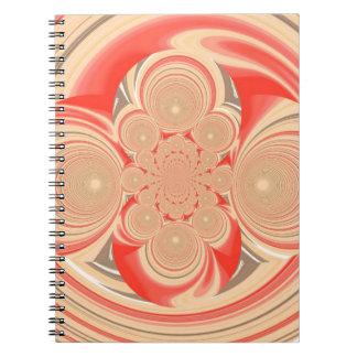 Diseño anaranjado del remolino libro de apuntes