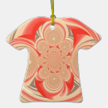 Diseño anaranjado del remolino ornato