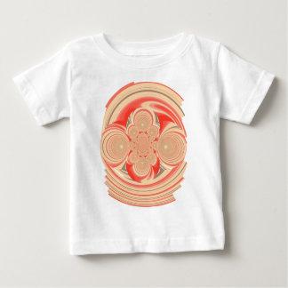 Diseño anaranjado del remolino playera de bebé
