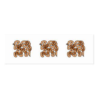 Diseño anaranjado enrrollado de la serpiente plantilla de tarjeta de negocio