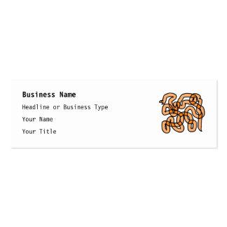 Diseño anaranjado enrrollado de la serpiente plantilla de tarjeta de visita