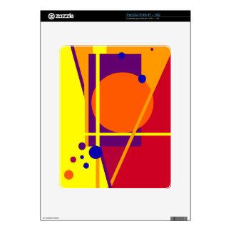 Diseño anaranjado geométrico por Moma Calcomanías Para iPad