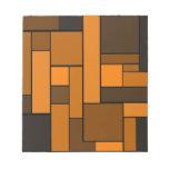 Diseño anaranjado oscuro del entarimado bloc de notas