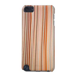 Diseño anaranjado y blanco de la raya ondulado