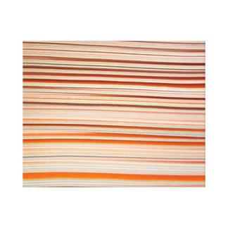 Diseño anaranjado y blanco de la raya ondulado impresión en lona estirada