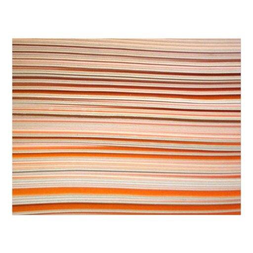 Diseño anaranjado y blanco de la raya ondulado membrete a diseño