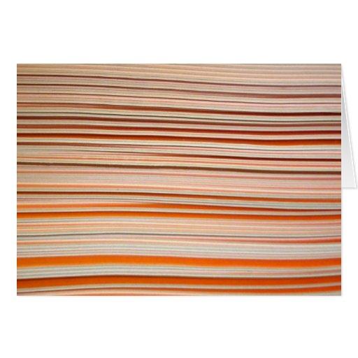 Diseño anaranjado y blanco de la raya ondulado tarjeta pequeña