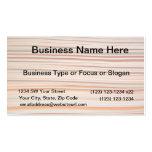 Diseño anaranjado y blanco de la raya ondulado tarjeta de visita
