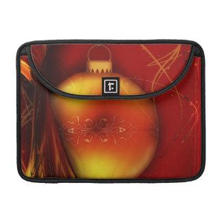 Diseño anaranjado y rojo de la bola del advenimien fundas para macbook pro