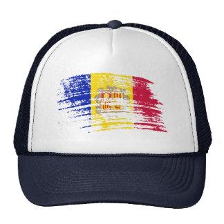 Diseño andorrano fresco de la bandera gorras