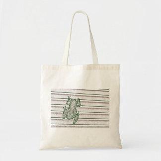 diseño anfibio del diseño rosado blanco verde de bolsa