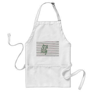 diseño anfibio del diseño rosado blanco verde de delantal
