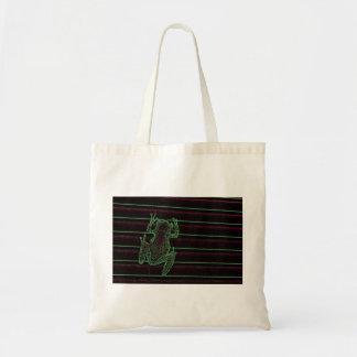 diseño anfibio gráfico del reptil de la rana bolsas