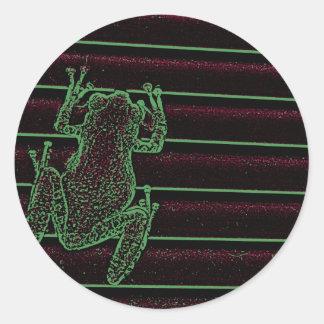 diseño anfibio gráfico del reptil de la rana pegatinas redondas