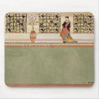 Diseño Anglo-Japonés de la pared, c.1860 (w/c y lá Tapetes De Ratones