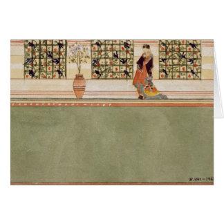 Diseño Anglo-Japonés de la pared, c.1860 (w/c y lá Tarjetas