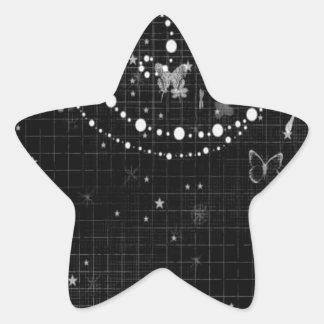 Diseño animal abstracto del alcohol de la mariposa calcomanías forma de estrella