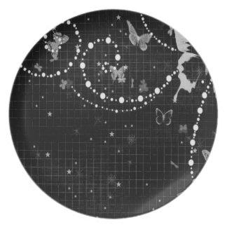Diseño animal abstracto del alcohol de la mariposa platos para fiestas