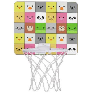 Diseño animal colorido lindo del modelo de los canasta de baloncesto mini