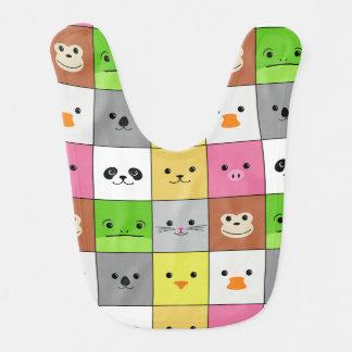 Diseño animal colorido lindo del modelo de los cua babero