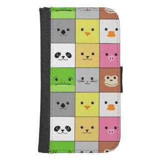 Diseño animal colorido lindo del modelo de los funda billetera para teléfono