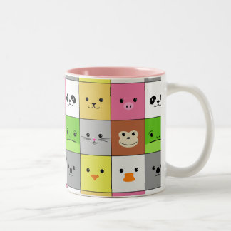 Diseño animal colorido lindo del modelo de los taza de café de dos colores