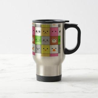 Diseño animal colorido lindo del modelo de los taza de viaje