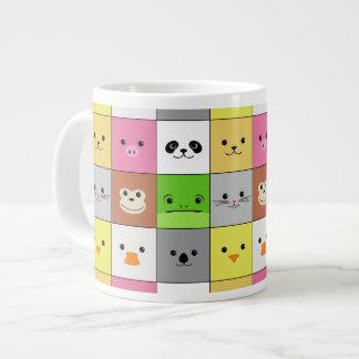 Diseño animal colorido lindo del modelo de los taza grande
