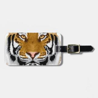 diseño animal de la cabeza del tigre de la fauna etiquetas bolsa