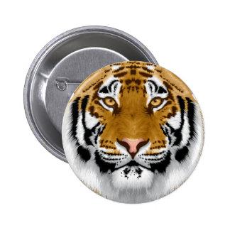diseño animal de la cabeza del tigre de la fauna pin