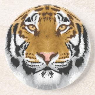 diseño animal de la cabeza del tigre de la fauna posavasos personalizados