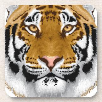 diseño animal de la cabeza del tigre de la fauna posavaso