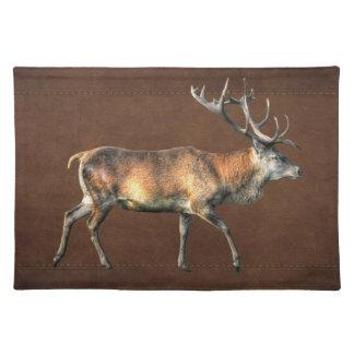 Diseño animal de la fauna del macho del ciervo com mantel individual