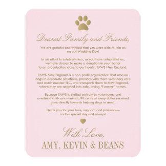 """Diseño animal de la impresión de la pata de la invitación 4.25"""" x 5.5"""""""