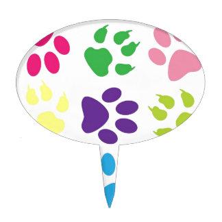 diseño animal de la pata figura para tarta