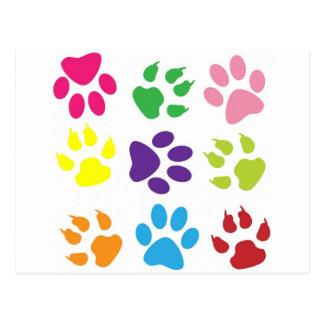 diseño animal de la pata postal