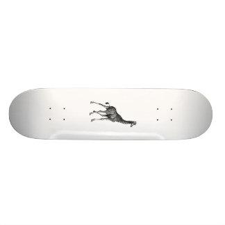 Diseño animal del dibujo del vintage del cuerpo co skateboard