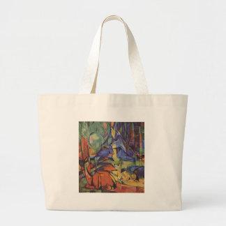 Diseño animal del extracto del expresionismo bolsas de mano