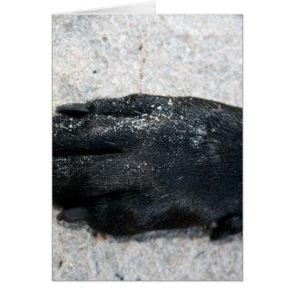diseño animal del laboratorio de la pata negra del tarjeta de felicitación