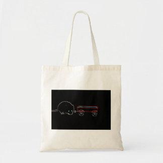 diseño animal del ratón w del esquema lindo del bolsa