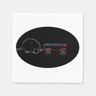 diseño animal del ratón w del esquema lindo del servilleta de papel