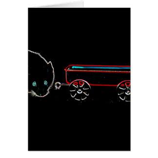 diseño animal del ratón w del esquema lindo del tarjeta de felicitación