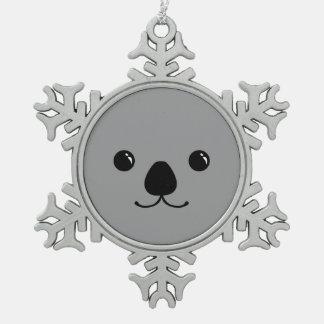 Diseño animal lindo de la cara de la koala gris adorno