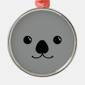 Diseño animal lindo de la cara de la koala gris