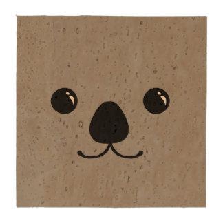 Diseño animal lindo de la cara de la koala gris posavasos