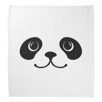 Diseño animal lindo de la cara de la panda blanco bandanas