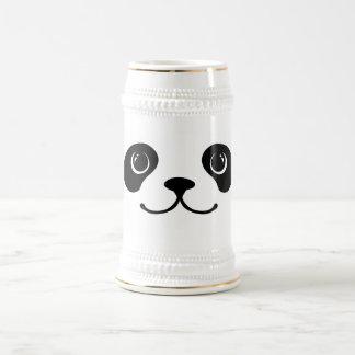 Diseño animal lindo de la cara de la panda blanco jarra de cerveza